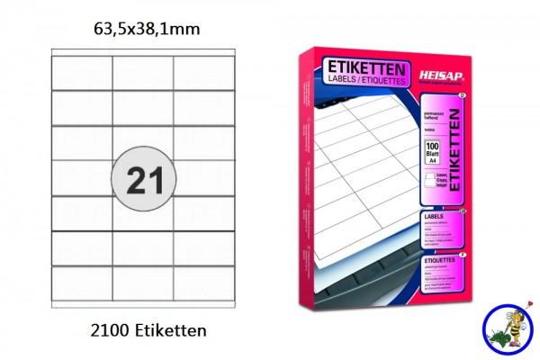 Heisap Drucker-Etiketten